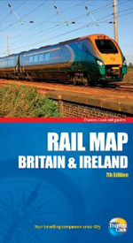 Rail Map of Britain and Ireland, 7th, Thomas Cook Rail Map
