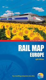 Rail Map Europe Thomas Cook 19th edition, 2012