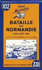 Michelin Battle of Normandy Map No.102 [Facsimile, Folded Map]