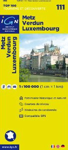 Metz Verdun Luxembourg 111 Map (French Edition)