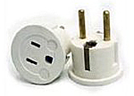 SIMRAN PLUG ADAPTER - CONVERTS GROUNDED USA PLUGS TO EUROPE PLUG-GERMAN SHUCKO PLUG (VP 11W)