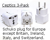 Schuko Continental Europe plug